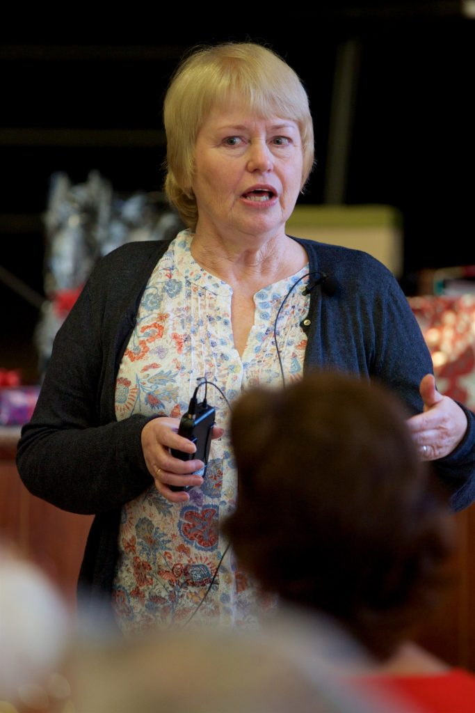 Sue Benwell, guest speaker. Taken at the monthly meeting in December 2016.