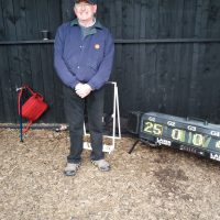 Peter gets highest score for laser clay pigeon shooting