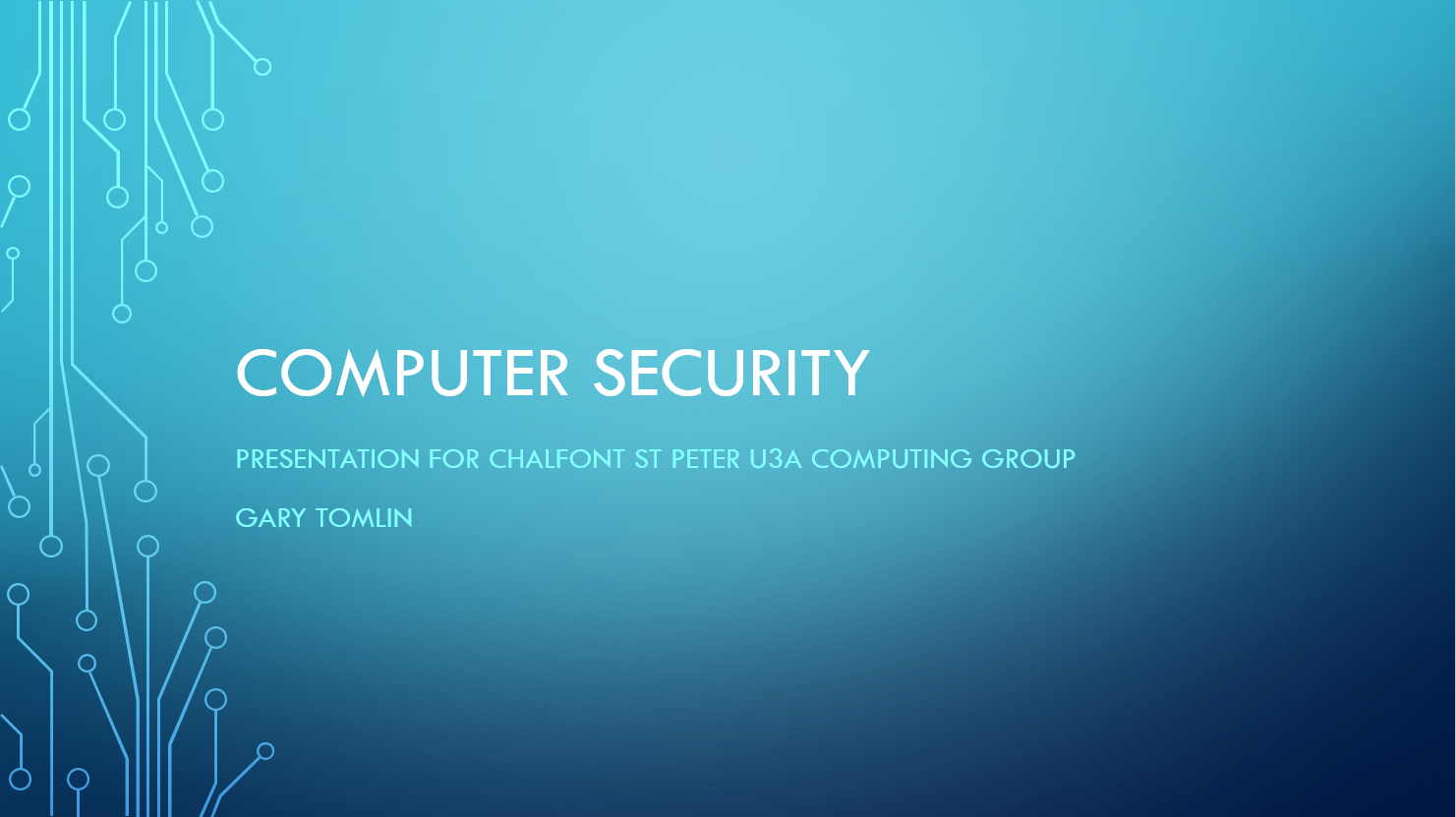 Security Presentation # 1