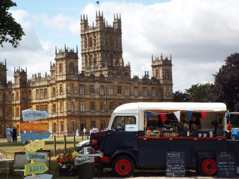 An Afternoon at Highclere Castle 17-07-18 then and now